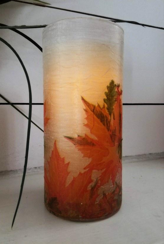 napkin decoupage glass