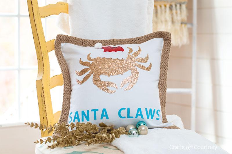 santa pillow feature