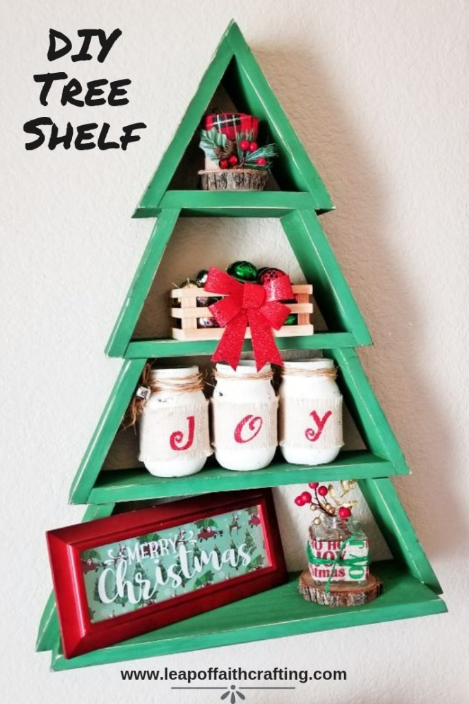 make diy christmas decor on a budget i made this amazing christmas tree wood shelf