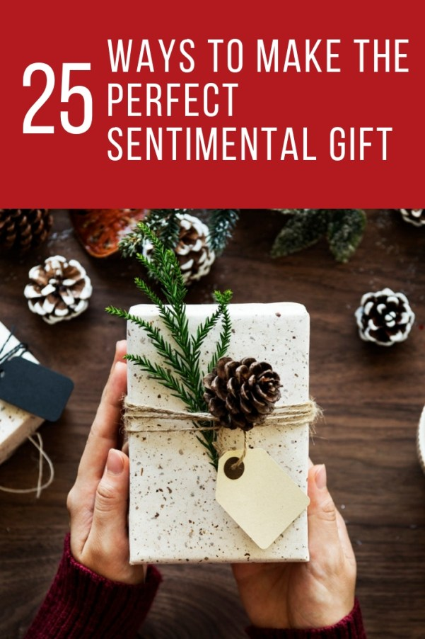 Give the best gift this holiday season!  A roundup of DIY sentimental gift ideas that you shouldn't miss!