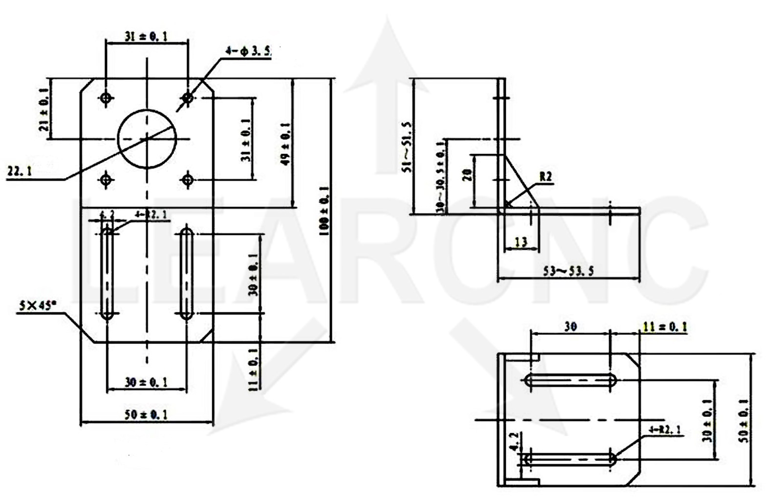 Nema17 Stepper Motor Mount Bracket Reprap Cnc Ramps 3d Printer