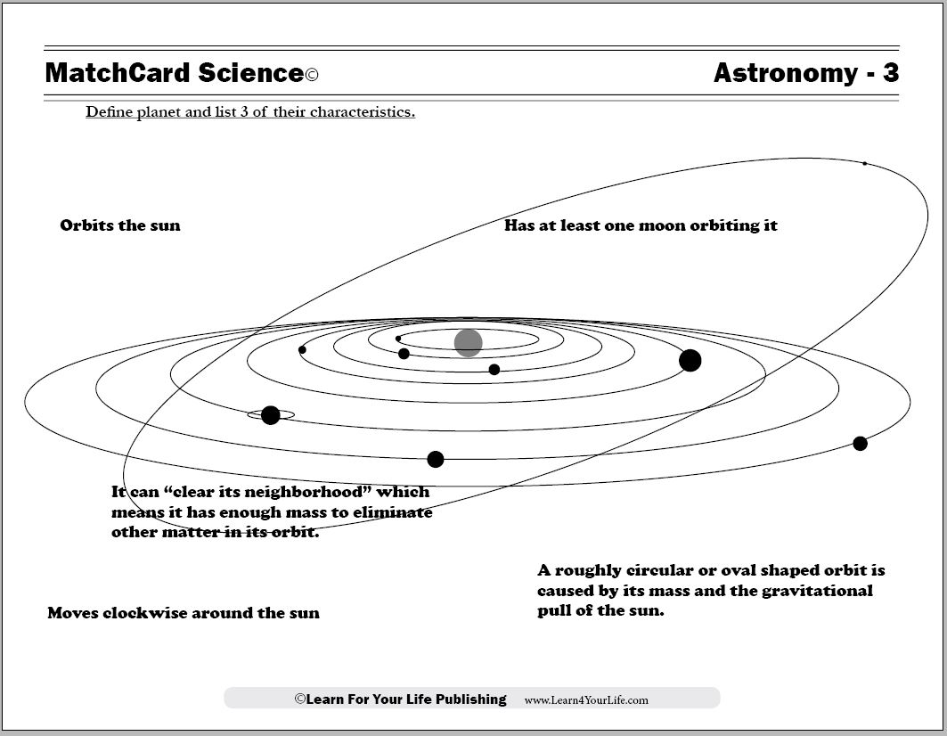 Astronomy Worksheets
