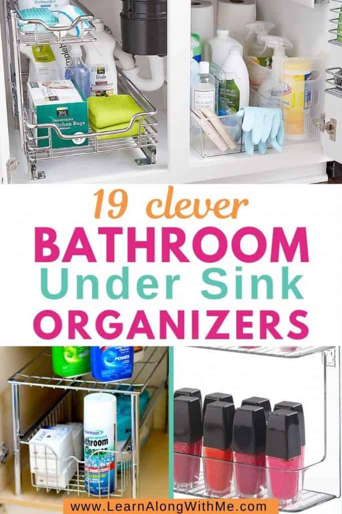 clever bathroom under sink organizers