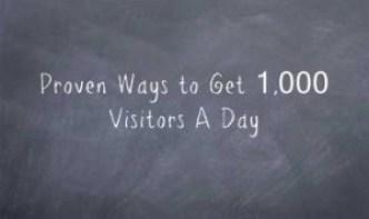 get 1000 visitors per day