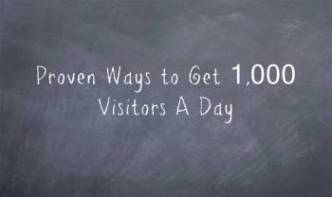 get 1000 visitors per day