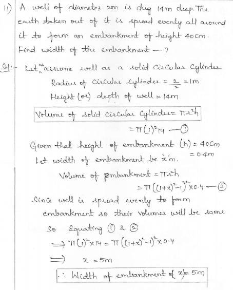 RD Sharma Class 10 Solutions Surface areas and Volumes Ex 16.1 Q11