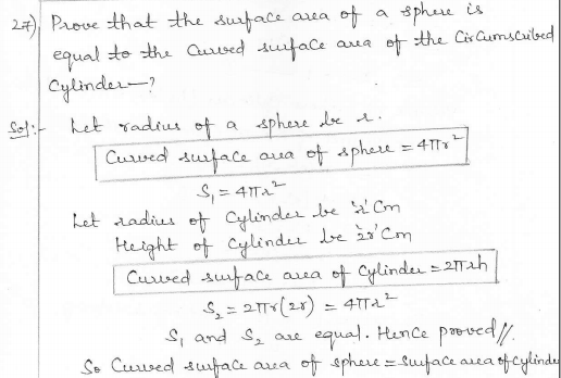 RD Sharma Class 10 Solutions Surface areas and Volumes Ex 16.1 Q27