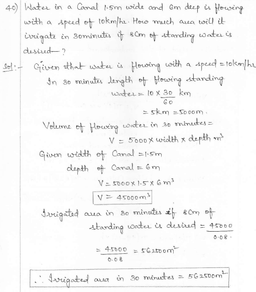 RD Sharma Class 10 Solutions Surface areas and Volumes Ex 16.1 Q40