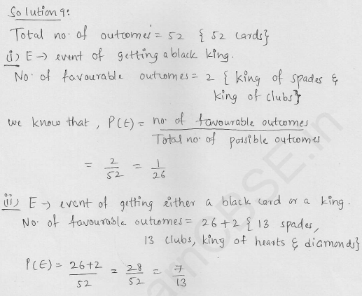 RD Sharma Class 10 Solutions Chapter 13 Probability Ex 13