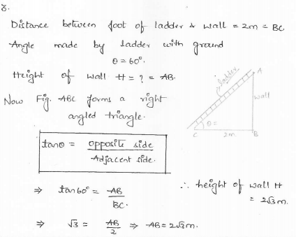 RD-Sharma-class 10-maths-Solutions-chapter 12 - Applications of Trigonometry -Exercise 12.1 -Question-3