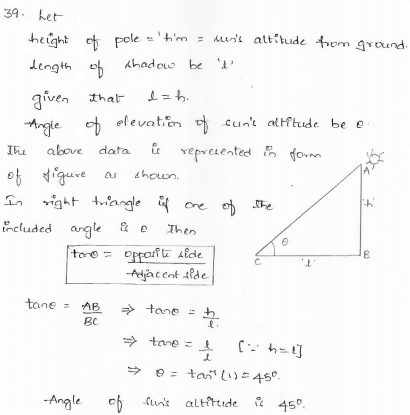 RD-Sharma-class 10-maths-Solutions-chapter 12 - Applications of Trigonometry -Exercise 12.1 -Question-39