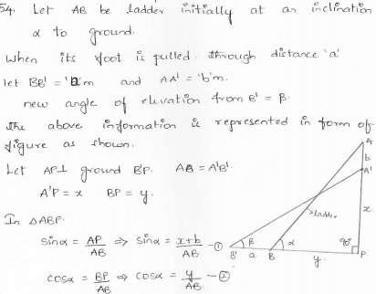 RD-Sharma-class 10-maths-Solutions-chapter 12 - Applications of Trigonometry -Exercise 12.1 -Question-54
