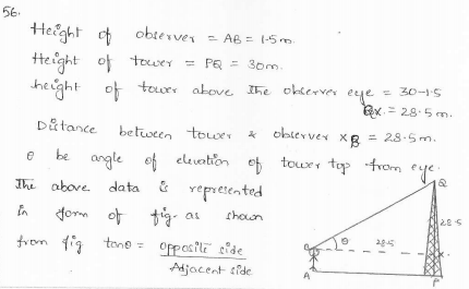 RD-Sharma-class 10-maths-Solutions-chapter 12 - Applications of Trigonometry-Exercise 12.1 -Question-56