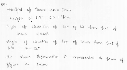 RD-Sharma-class 10-maths-Solutions-chapter 12 - Applications of Trigonometry -Exercise 12.1 -Question-59