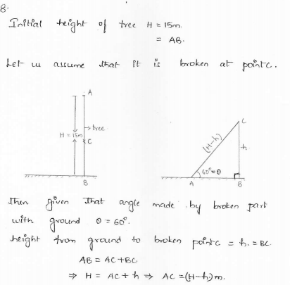 RD-Sharma-class 10-maths-Solutions-chapter 12 - Applications of Trigonometry -Exercise 12.1 -Question-8