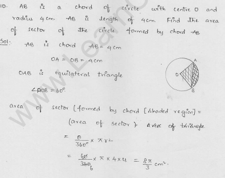 RD-Sharma-class 10-maths-Solutions-chapter 15-Areas related to Circles- Exercise 15.2-Question-10