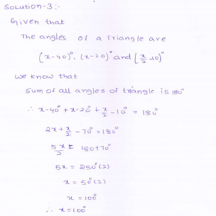 RD-Sharma-class 9-maths-Solutions-chapter 9 - Traingles and Its Angles -Exercise 9.1 -Question-3