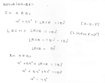 RD Sharma Class 7 Solutions 14.Lines and angles Ex-14.2 Q 26