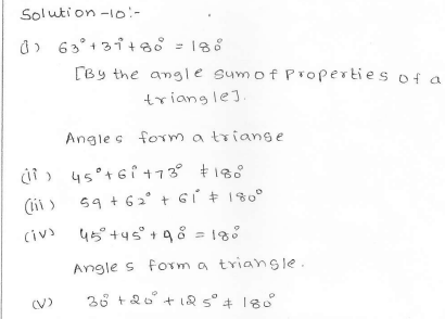 RD Sharma Class 7 Solutions 15.Properties of triangles Ex-15.2 Q 10