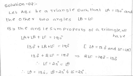 RD Sharma Class 7 Solutions 15.Properties of triangles Ex-15.2 Q 2