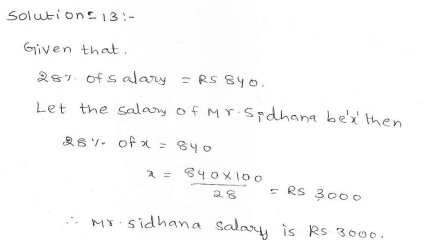 RD Sharma class 7 solutions 11.Percentage Ex-11.6 Q 13