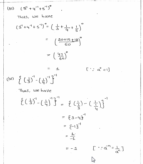 RD Sharma Class 8 Solutions Chapter 2 Powers Ex 2.1 Q 2 ii