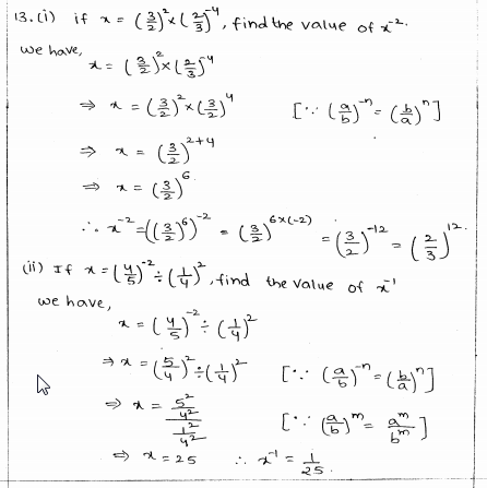 RD Sharma Class 8 Solutions Chapter 2 Powers Ex 2.2 Q 13