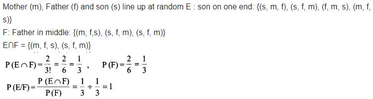 Class 12 Maths NCERT Solutions Chapter 13 Probability Ex 13.1 Q 9