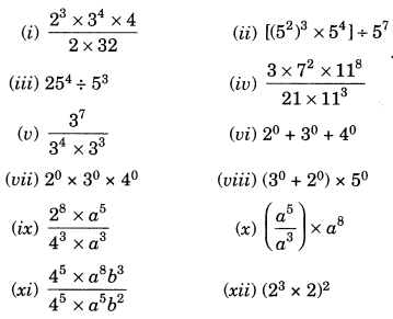 NCERT Solutions for Class 7 Maths Chapter 13 Exponents and Powers Ex 13.2 1