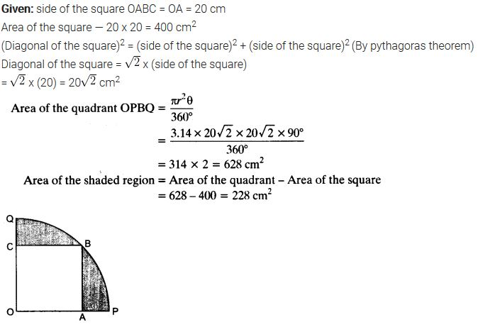 Areas Related To Circles Class 10 Maths NCERT Solutions Ex 12.3 PDF Q13