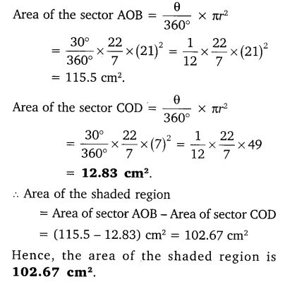 Areas Related To Circles Class 10 Maths NCERT Solutions Ex 12.3 PDF Q14