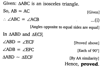 Class 10 Triangles Exercise 6.3