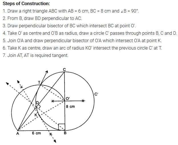 Constructions Class 10 NCERT Solutions Ex 11.2 PDF Q6