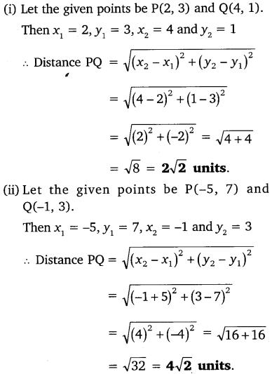 Coordinate Geometry Class 10 Maths NCERT Solutions Ex 7.1 PDF Download
