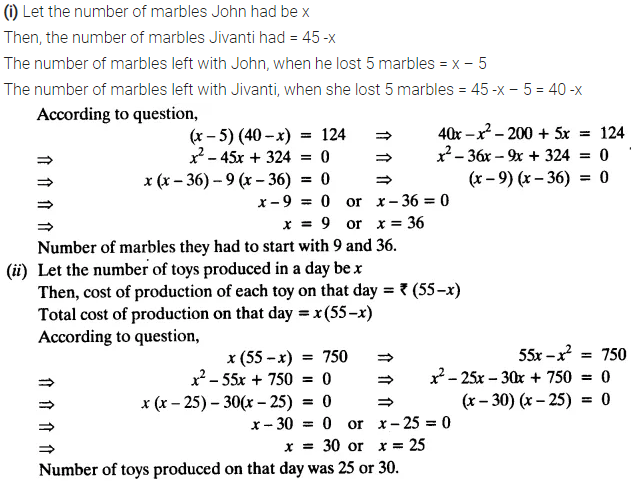 Exercise 4.2 Class 10 Maths NCERT Solutions Chapter 4 Quadratic Equations PDF Download Q2