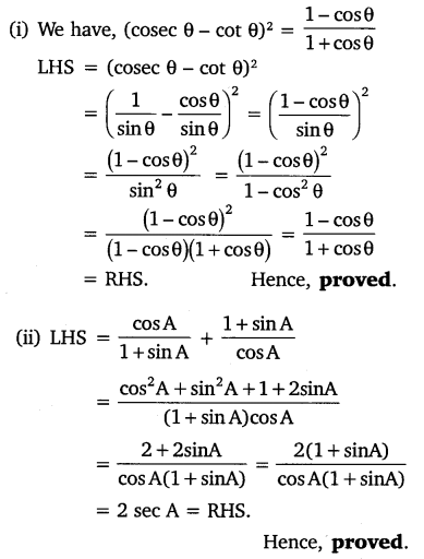 Exercise 8.4 Class 10 NCERT Solutions Chapter 8 Trigonometry Free PDF Download Q4