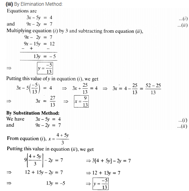 NCERT Solutions for Class 10 Maths Chapter 3 Pdf Pair Of Linear Equations In Two Variables Ex 3.4 Q1.2