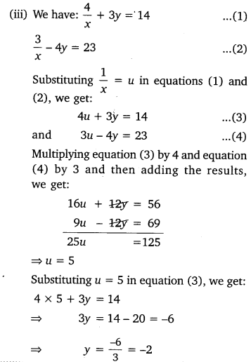 NCERT Solutions for Class 10 Maths Chapter 3 Pdf Pair Of Linear Equations In Two Variables Ex 3.6 Q1.3