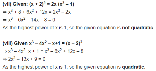 NCERT Solutions for Class 10 Maths Chapter 4 Quadratic Equations Ex 4.1 PDF Q1.2