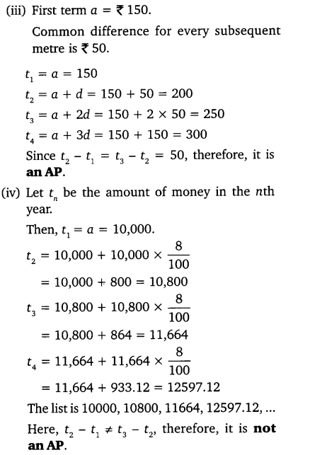 NCERT Solutions for Class 10 Maths Chapter 5 Pdf Arithmetic Progression Ex 5.1 Q1.1