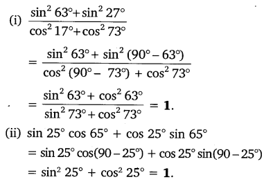 NCERT Solutions for Class 10 Maths Chapter 8 Trigonometry Exercise 8.4 Free PDF Q3