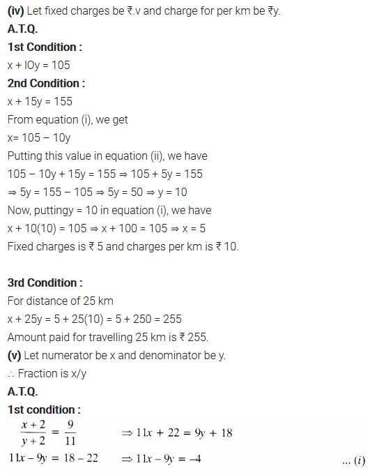Pair Of Linear Equations In Two Variables Class 10 Maths NCERT Solutions Ex 3.3 Q3.2