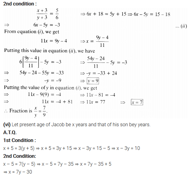Pair Of Linear Equations In Two Variables Class 10 Maths NCERT Solutions Ex 3.3 Q3.3