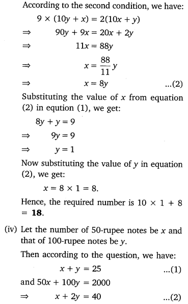 Pair Of Linear Equations In Two Variables Class 10 Maths NCERT Solutions Ex 3.4 Q2.3
