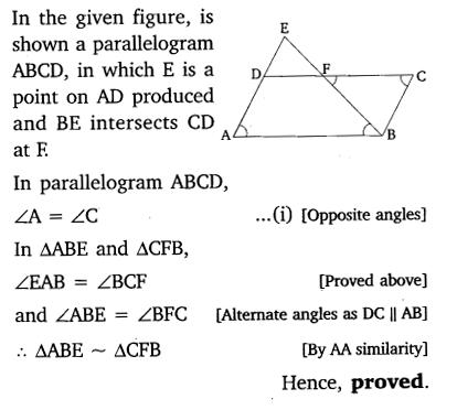 Triangles Class 10 Ex 6.3 NCERT Solutions PDF Q8