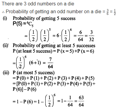 NCERT Solutions for Class 12 Maths Chapter 13 Probability Ex