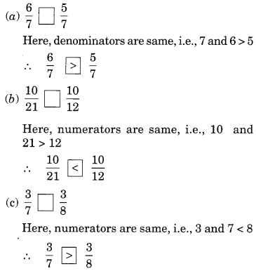 Fractions Class 6 Extra Questions Maths Chapter 7