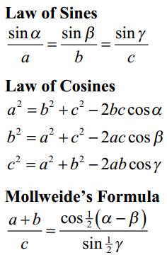 Inverse Trigonometric Function Formulas 3