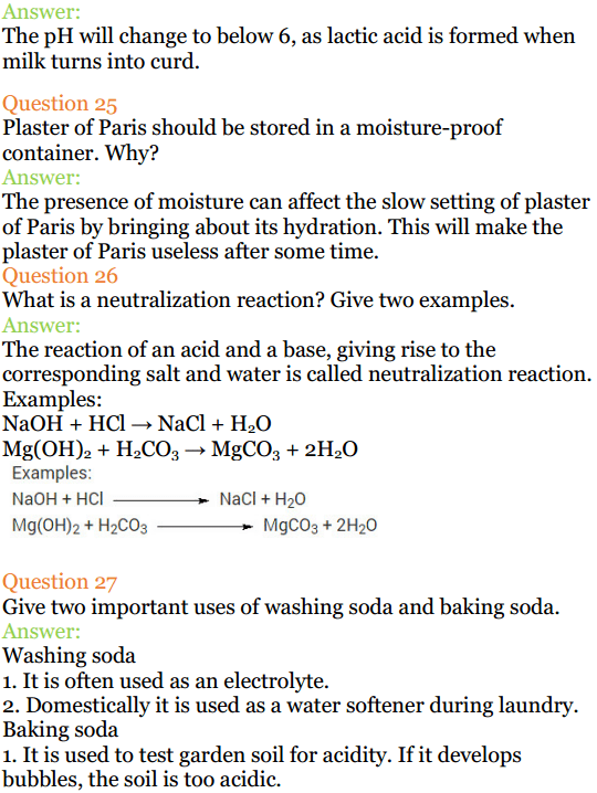 acid base and salt class 10 notes
