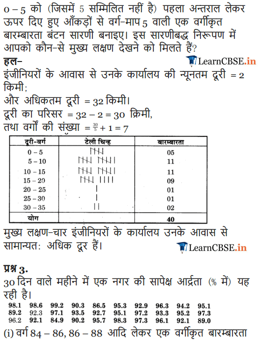 NCERT Solutions for Class 9 Maths Chapter 14 Statistics Exercise 14.2 in pdf form